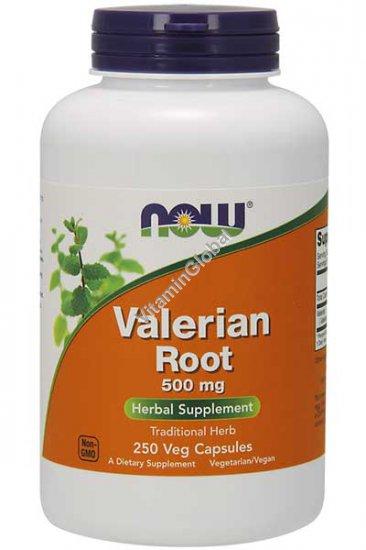 Valerian Root 500 mg 250 Veg Capsules - NOW Foods