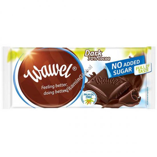 No Added Sugar, Dark 70% Cocoa Chocolate 100g - Wawel