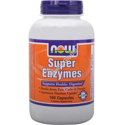 Super Enzymes Supports Healthy Digestion 180 tablets - NOW Foods