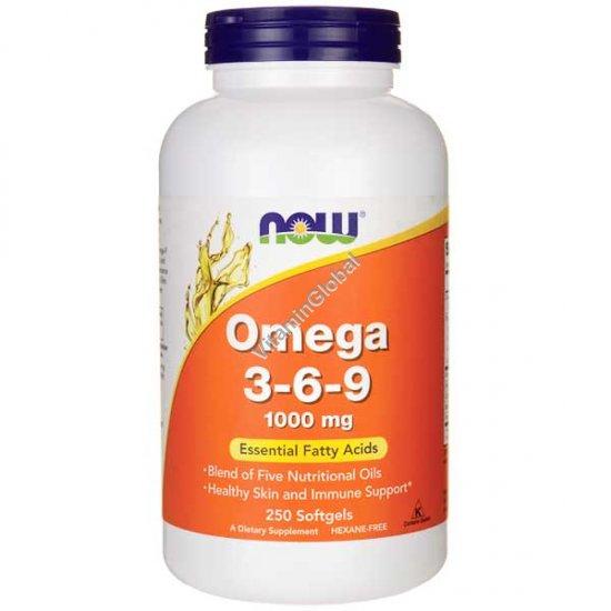 Omega 3-6-9 250 Softgels - NOW Foods