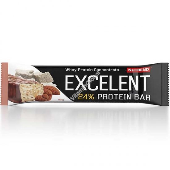 Excelent Protein Bar Marzipan Flavour with Almonds, Covered with a Real Milk Chocolate 85g - Nutrend