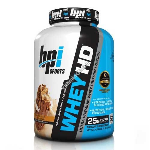 Ultra Premium Whey HD Protein Powder Peanut Butter Ice Cream Bar 2,122g - bpi Sports