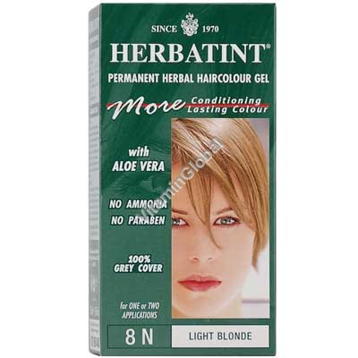 Permanent Herbal Haircolour Gel Light Blonde 8N - Herbatint