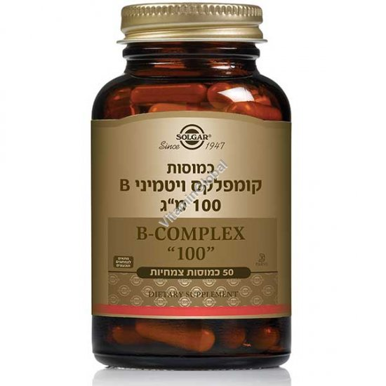 "B Complex ""100"" 50 Vegetable Capsules - Solgar"