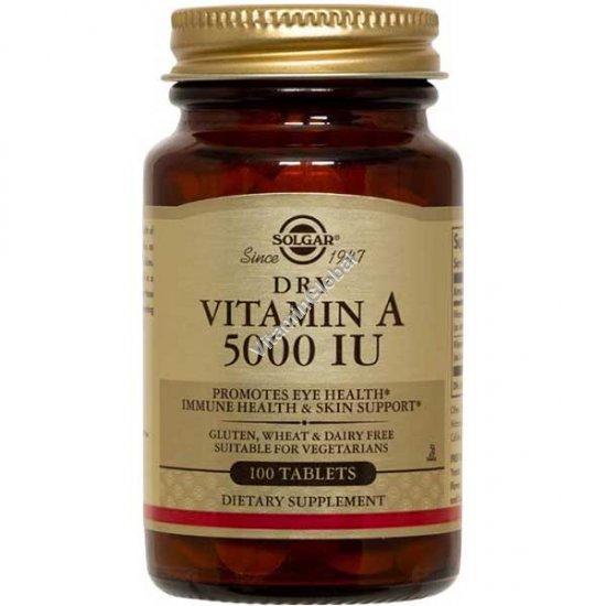 Dry Vitamin A 5000 IU 100 tablets - Solgar