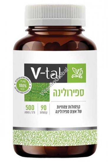 Kosher Badatz Spirulina 500mg 90 capsules - V-tal