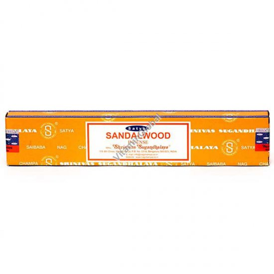 Sandalwood Hand-Rolled Incense Sticks 15g - Satya