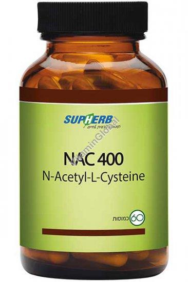 NAC 400 mg (N-Acetyl-L-Cysteine) 60 capsules - SupHerb