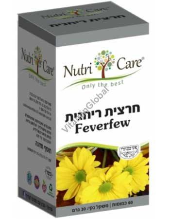 Kosher Badatz Feverfew 400 mg 60 Veg Capsules - Nutri Care