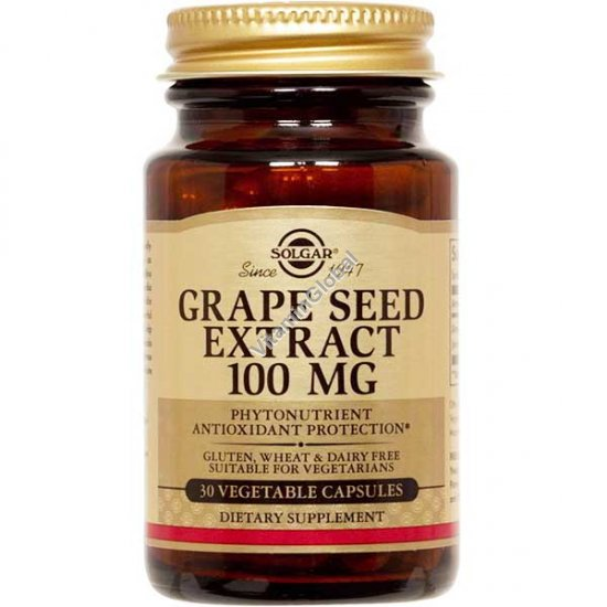 Grape Seed Extract 100 mg 30 vegetable capsules - Solgar