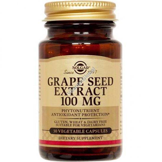 Grape Seed Extract 100 mg 30 vegetable capsules - Solgar