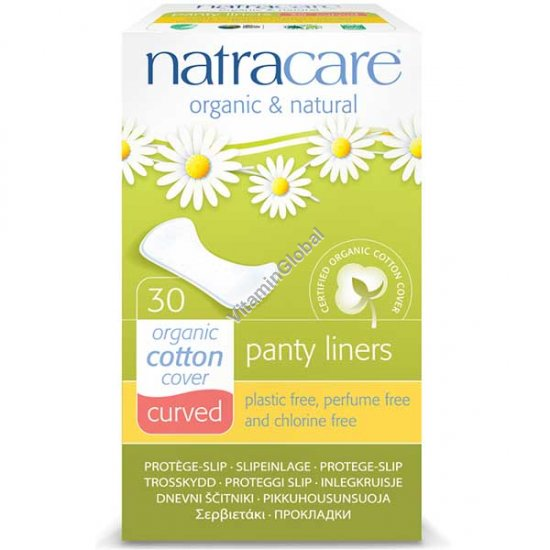 Organic & Natural Curved Panty Liners 30 Count - Natracare
