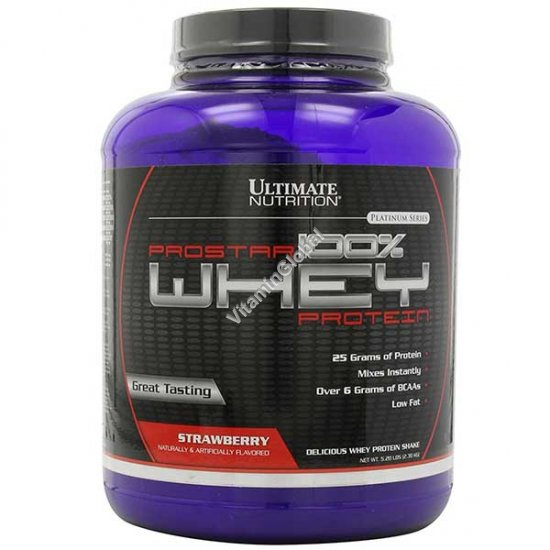 Prostar Whey Protein Strawberry 2.39kg (5.28 LBS) - Ultimate Nutrition