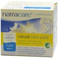 Organic Cotton Super Ultra Pads with Wings 12 pcs - Natracare