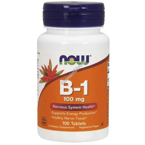 Vitamin B-1 100 mg 100 tablets - NOW Foods