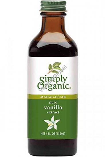 Organic Madagascar Pure Vanilla Extract 118ml - Simply Organic