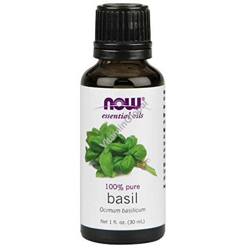 Basil Essential Oil 30ml (1 fl oz) - Now Foods