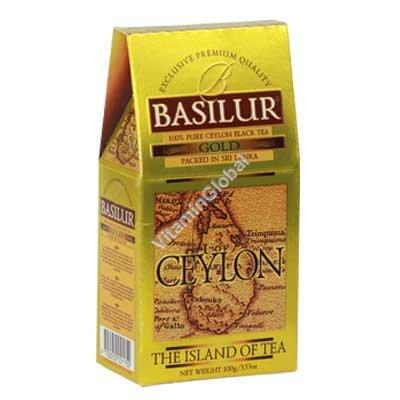 "Premium Pure Ceylon Black Tea Gold ""The Island of Tea"" 100g - Basilur"