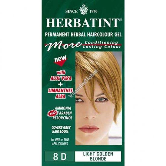 Permanent Haircolour Light Golden Blonde 8D - Herbatint