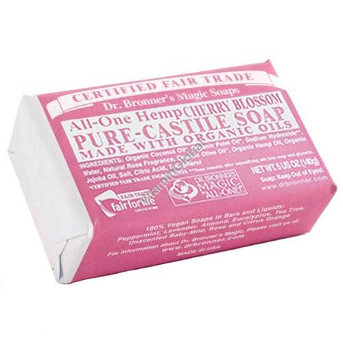Hemp Cherry Blossom Pure Castile Soap 140g (5 US OZ) - Dr. Bronner