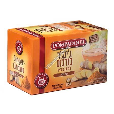 Ginger & Turmeric Tea 20 tea bags - Pompadour