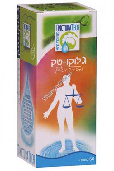 Kosher Badatz, Gluco-Tech for reducing blood sugar levels 60 capsules - TincturaTech