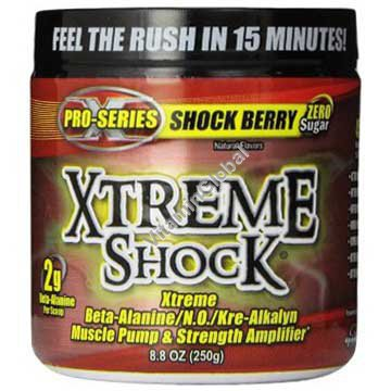 Xtreme Shock Pre-Workout Formula, Shock Berry 250g - Ansi
