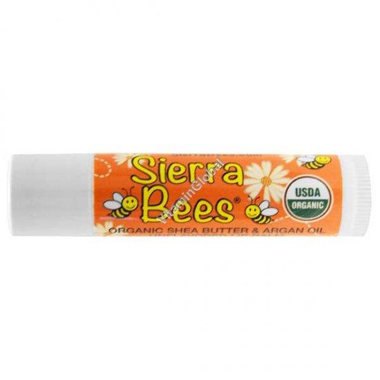Organic Shea Butter & Argan Oil Unflavored Lip Balm 4.25g - Sierra Bees