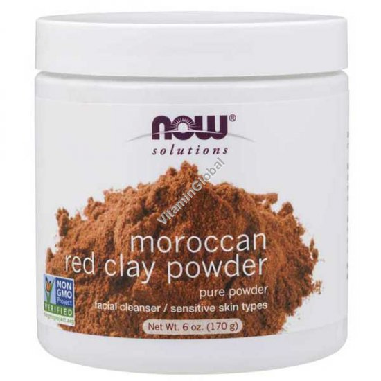 Moroccan Red Clay Powder 170g - Now Foods