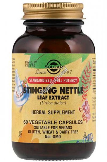 Standardized Stinging Nettle Leaf Extract 60 vegetable capsules - Solgar