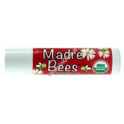 Organic Pomegranate Lip Balm 4.25g - Madre Bees