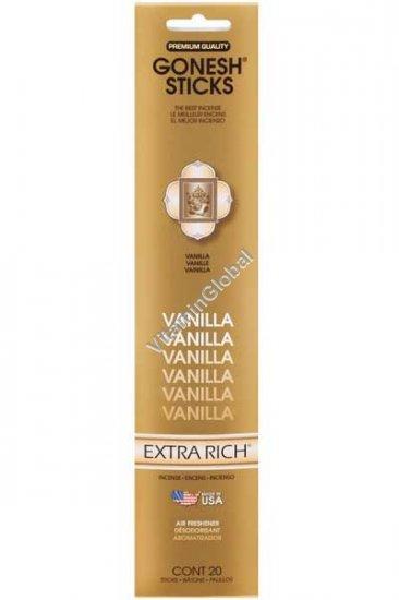 Vanilla Incense Sticks 20 count - Gonesh Sticks