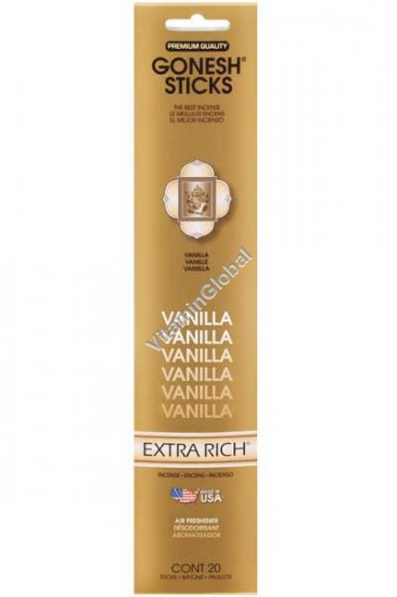 Vanilla Incense Sticks 20 count - Gonesh Sticks
