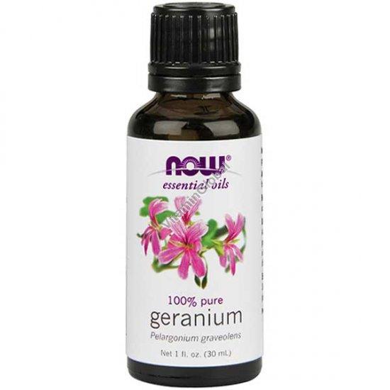 Geranium Oil 30ml (1 fl oz) - Now Essential Oils