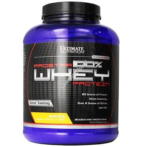 ProStar Whey Protein Banana Flavor 2.39 kg - Ultimate Nutrition