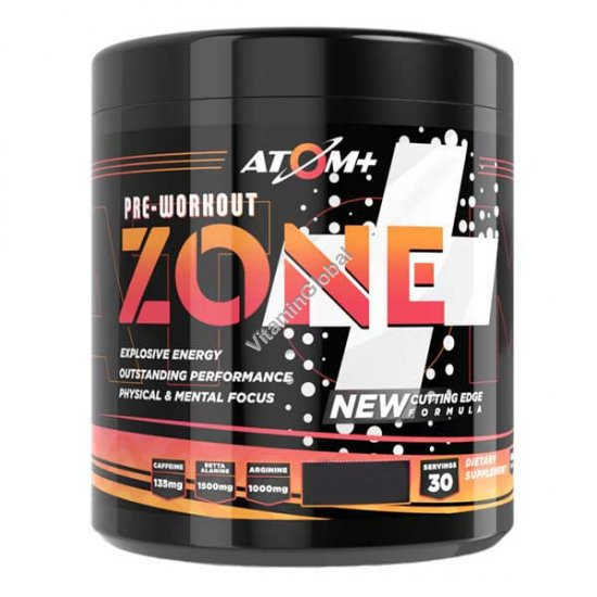 Zone - Pre-workout Blood Orange Flavor 225g - Atom +