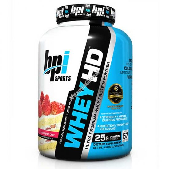 Ultra Premium Whey HD Protein Powder Strawberry Cake 2.04 kg - bpi Sports