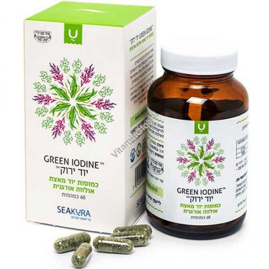 Green Iodine - Iodine Supplement from Organic Ulva Seaweed 60 capsules - SeaKura