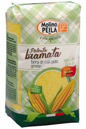 Gluten Free Polenta Bramata - Coarse Yellow Corn Flour 1kg - Molino Peila