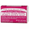 Hemp Rose Pure Castile Soap 140g (5 US OZ) - Dr. Bronner