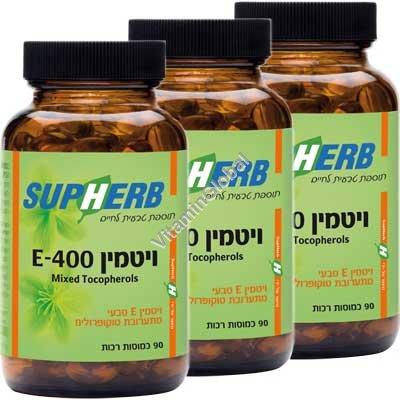 Kosher L\'Mehadrin Mixed Tocopherols E-400 IU 270 Softgels - Supherb