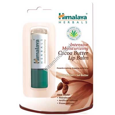 Intensive Moisturizing Cocoa Butter Lip Balm 4.5g - Himalaya Herbals