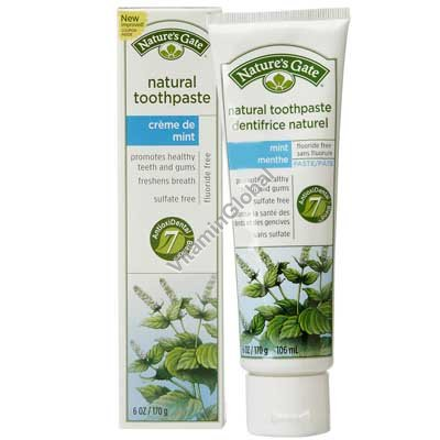 Creme De Mint Natural Toothpaste 170 g - Nature\'s Gate