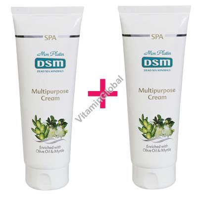 Multipurpose Cream enriched with Olive Oil & Myrtle 500 (8.5+8.5 fl. oz.) - Mon Platin Dead Sea Minerals