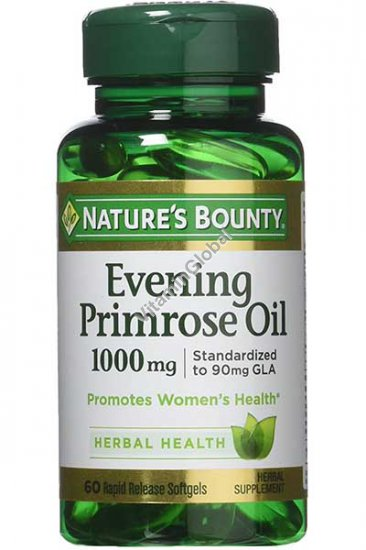 Evening Primrose Oil 1000 mg 60 softgels - Nature\'s Bounty