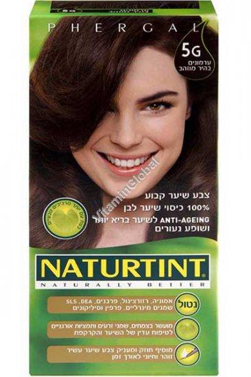 Permanent Hair Color 5G Light Golden Chestnut - Naturtint