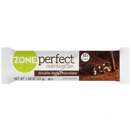 Nutrition Bar Double Dark Chocolate 1.58 oz (45g) - Zone Perfect