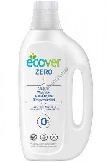 Ecover Zero - Laundry Liquid suitable for allergy sufferers and sensitive skin 1.5L - Ecover