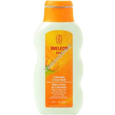 Calendula Baby Cream Bath 6.8 OZ (194 g) - Weleda