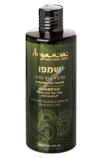 Nettle & Tea Tree Anti-Dandruff Shampoo 450ml (15.21 fl. oz) - Argania